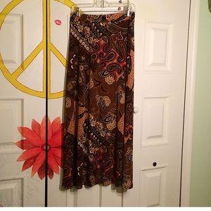 Paisley hippy maxi skirt